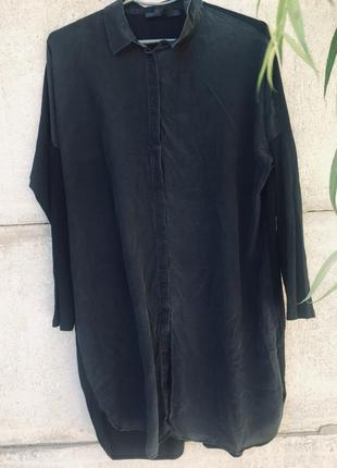 Платье-рубашка шёлк+хлопок