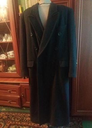 Длинное пальто -шерсть 52/54 размер