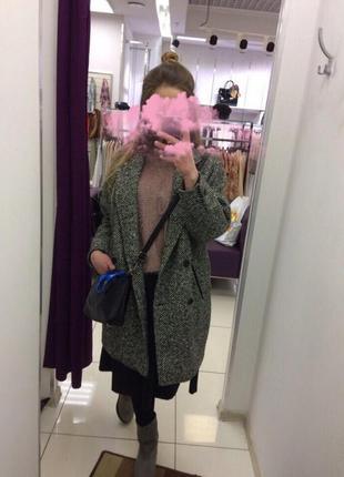 Пальто в стиле бойфренд. оверсайз