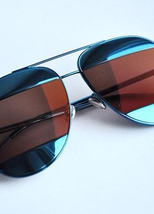 Новые солнцезащитные оригинальные очки dior split 1/s blue y4erd