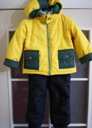 Зимняя куртка и термо штаны комплект для мальчика 1,5-3года