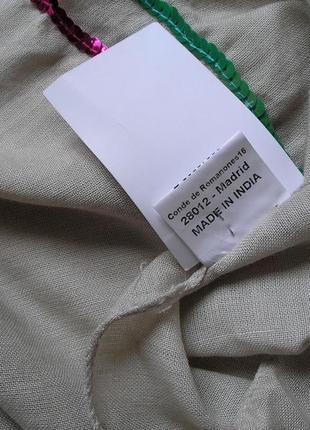 Большой вискозный плотный шарф палантин, оттенок льна, испания, -174х69см - ,с биркой5