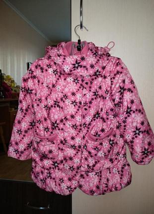 Рожева курточка на дівчинку