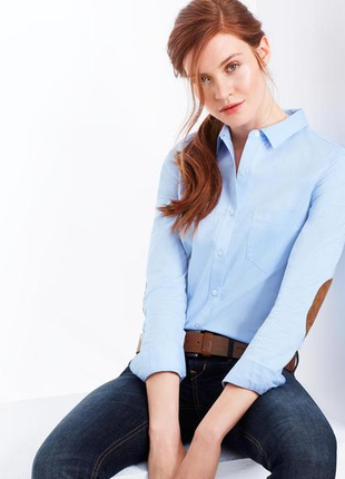 Голубая рубашка chambray от тсм tchibo (германия) размер 42 евро=48