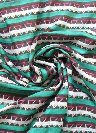 Большой яркий коттоновый шарф палантин, испания, -176х54см - ,новы