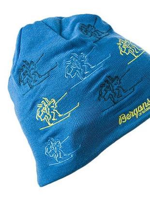 Тёплая шапка спортивная лыжная 100% мериносовая шерсть унисекс