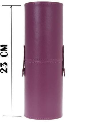 Футляр чехол тубус косметичка для кистей высота 23 см бордо