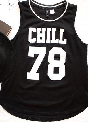 Футболка chill h&m