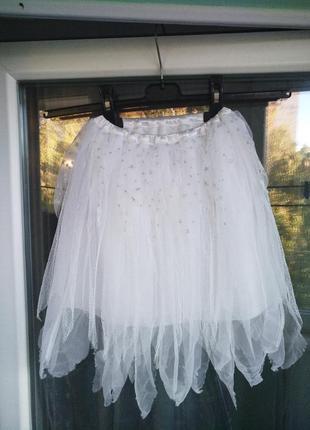 Нарядная юбка ladybird р.104-128 девочке 4-7лет на утренник праздник хэллоуин новый год
