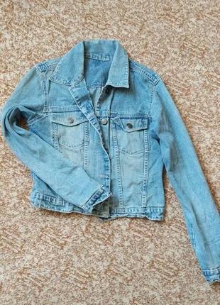 Джинсовая куртка курточка пиджак джинсовый