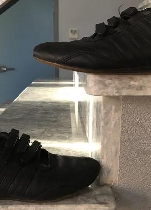 Adidas черные кроссовки на липучках