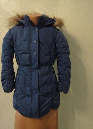 Пуховик, пальто зима на девочку 6-7 лет1