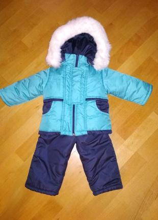 Зимний комбинезон для мальчика 1-1,5 года