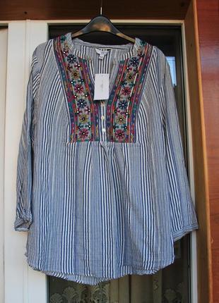 Натуральная, рубашка, блузка, с вышивкой, вышиванка,туника,