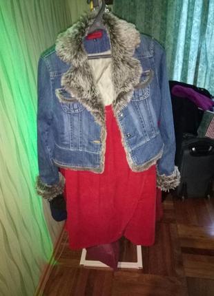 Джинсовая куртка утепленная