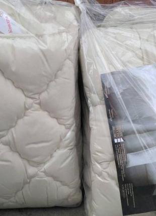 Полуторное теплое одеяло микрофибра/холлофайбер