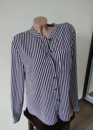 Рубаха рубашка в полоску блуза блузка полосатая хит тренд размер с