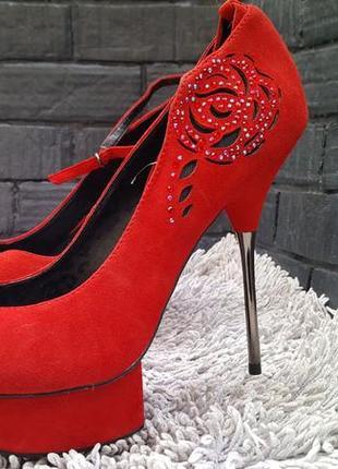 Женские туфли шпильки замша