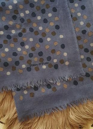 Шарф marc o'polo,теплый шарф,шерстяной шарф,шарф на осень,шарф в горох,платок