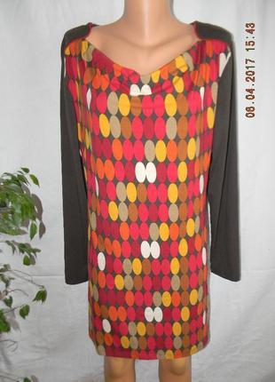 Вискозное новое платье-туника