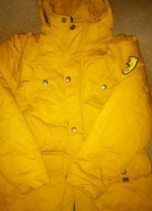 Курточка для мальчика горчичного цвета
