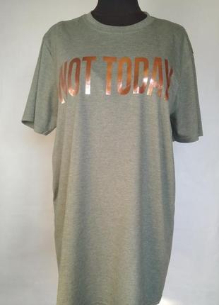 Классная длинная футболка missguided с надписью, l-хl
