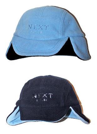 Флисовая двухсторонняя шапка next на мальчика 2-3 года
