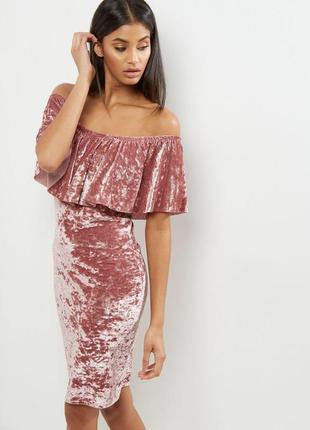 Evita идеальное велюровое платье на плечи