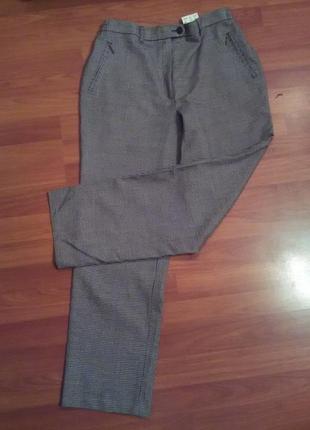 Стильние укороченние брюки в клетку от comfort
