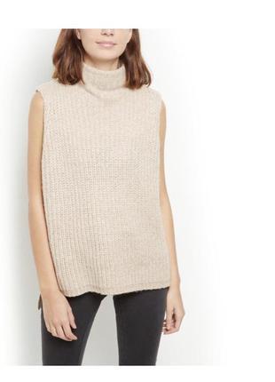 -25% на все! тёплый уютный жилет оверсайз, удлиненная вязаная жилетка, свитер без рукавов