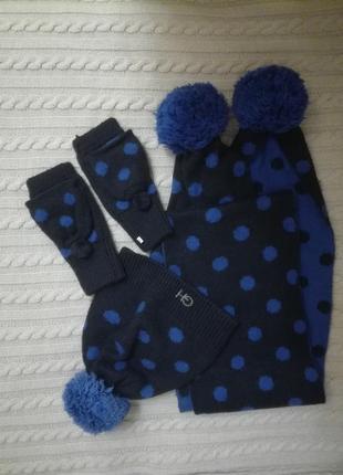 Наборчик шапка, шарф, рукавички gilly hicks