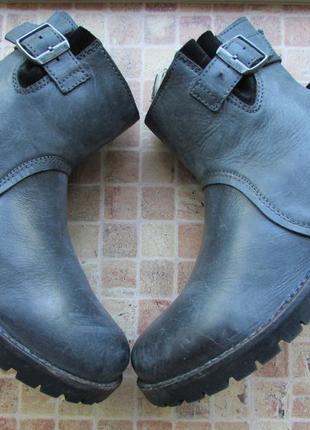 Ботинки демисезонные birkenstock с ортопедической стелькой на стопу 24 см