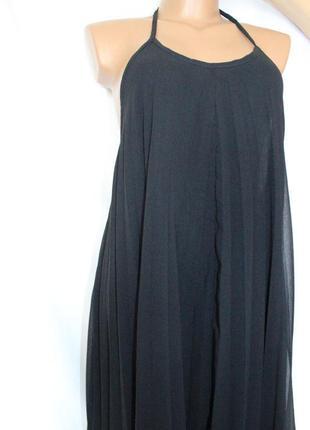 Шифоновое плисированное макси платье с открытой спинкой/ missguided4 фото