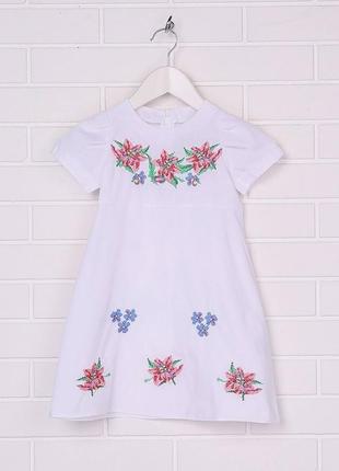Сукня вишита вишите плаття з вишивкою вышитое платье с вышивкой для девочки р.98-1461