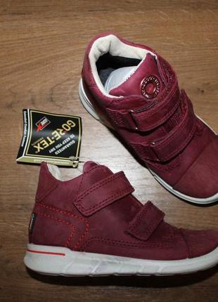Кожаные ботинки ecco first gore-tex, 25 размер 16.5 см