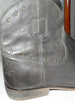 Ботинки казаки 39 кожа