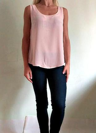 Красивая нюдовая базовая блуза 12