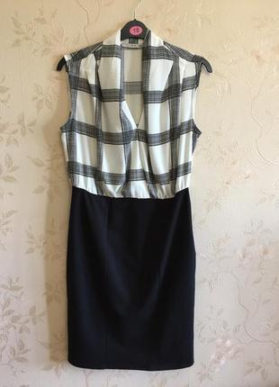 Стильное контрастное платье george  (uk 14 - наш 48/50)