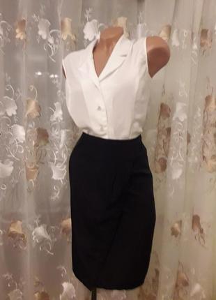 Brend oodji, клссическая юбка ,плотный шелк,40-42