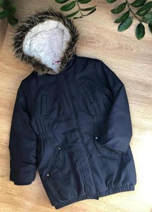 Демисезонная парка/удлиненная курточка 8-9 лет