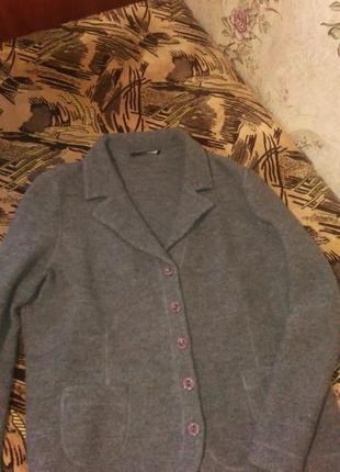 Классное пальто бойфренд натуральная шерсть