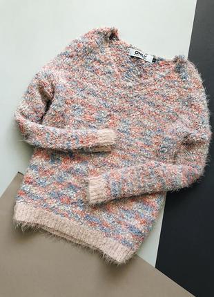 Разноцветный свитер травка only