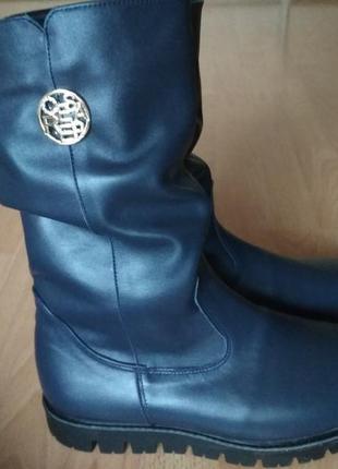 Зимние сапоги 43-44 р кожаные. большой размер!