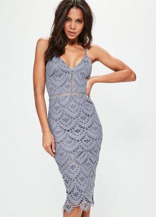 Кружевное платье миди missguided