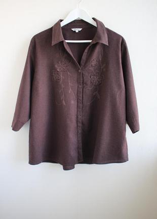 Льняная блуза с вышивкой от m&co