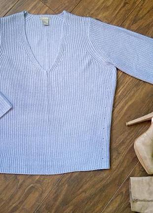 Голубой свитер оверсайз lindex