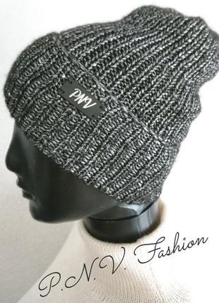 Осенняя шапка серебро