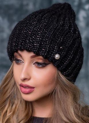 Теплая шапочка, в составе шерсть и мохер