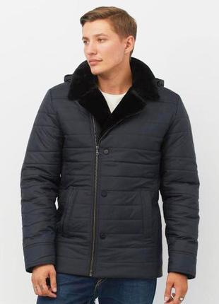 Мужская зимняя куртка 2019 на меховой подкладке