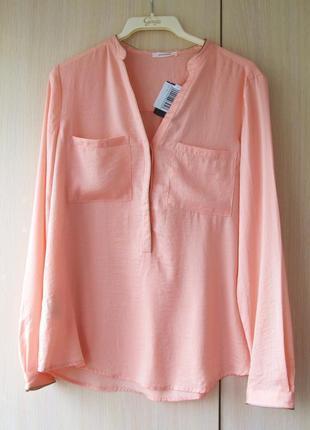 Блуза-рубашка promod кораллового цвета, m-l